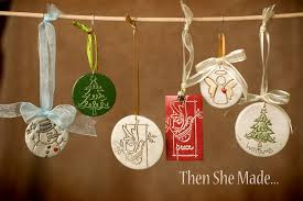 then she made personalized ornaments