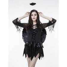 Slimming Halloween Costumes Halloween Costumes Woman Black Feather Wing Angel Demoness