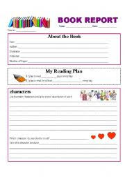 story report template teaching worksheets book report