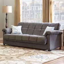Andover Mills Minter Upholstered Sleeper Sofa  Reviews Wayfair - Brown sofa beds