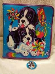 vintage dog ring holder images Vintage lisa frank trapper keeper buzz lisa frank binder lover jpg