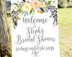 bridal shower signs bridal shower welcome sign black white and gold bridal shower