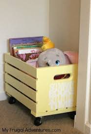 easy diy rolling toy or book crate toy storage idea diy toy