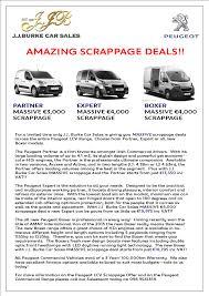 new peugeot deals peugeot lcv scrappage peugeot dealers jj burke car sales