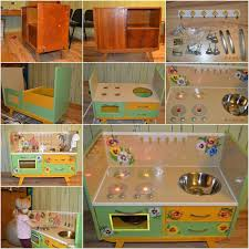 diy play kitchen ideas to diy repurpose an old entertainment center into a play kitchen