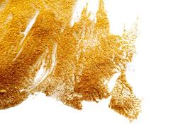 abstract background painted with a brush of gold paint stock