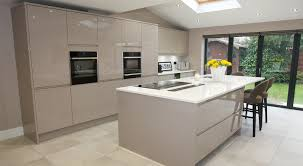handleless kitchen remo stone grey fineline interiors worsley second nature mr mrs evans worsley