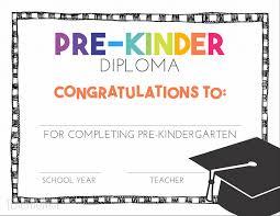 graduation diploma free pre k and kindergarten graduation diplomas teach junkie