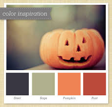 gray green orange halloween color palette gray green