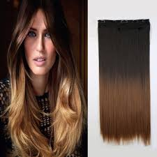 how to dye dark brown hair light brown fashion 60cm 24 one piece clip in straight synthetic dip dye ombre