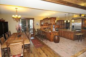 Decoration Dining Room Kitchen Exciting Dining Room Decoration Rustic Wood Floor
