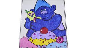 let u0027s color 3 trolls biggie and mr dinkles coloring page time