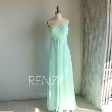 bright mint bridesmaid dress long wedding dress empire