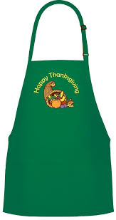 thanksgiving apron thanksgiving with fall leaves 3 pocket bib apron