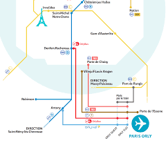 Map Of Paris Metro Transportation Between Paris And Orly Ory Airport Paris By Train