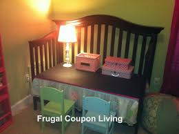 When Do You Convert A Crib To A Toddler Bed Reuse A Crib Into A Child S Desk With This Do It Yourself Easy