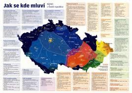 Map Of Czech Republic Czech Republic Map Of Dialects Europe
