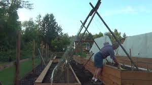 how to build a bean trellis and plant pole beans youtube