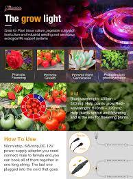 amazon com grow light solmore 3pcs 1 6ft strip led plant light