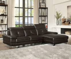 adjustable back sectional sofa acme 52045 espresso sectional sofa