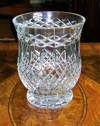 Large Waterford Crystal Vase Irish Cavan Crystal Large Centerpiece Vase Rare Pattern