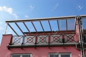 balcony canopy on a residential home stock photo picture and