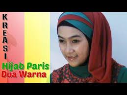 tutorial jilbab dua jilbab tutorial hijab paris segi empat dua warna special ramadhan lebaran