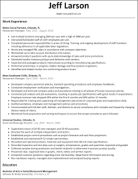 Restaurant Resume Samples by Restaurant Manager Resume Resumesamples Net