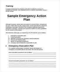 emergency action plan template madinbelgrade