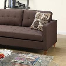 Modular Sectional Sofa Esofastore Small Reversible Modular Sectional Chocolate Polyfiber