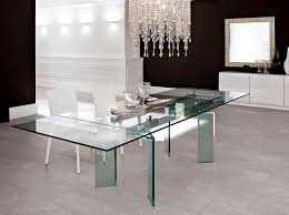 all glass dining room table all glass dining table luxurious set for perfect dinner homesfeed