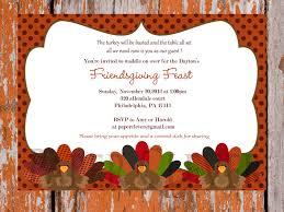 vintage thanksgiving potluck invitation with turkey themed