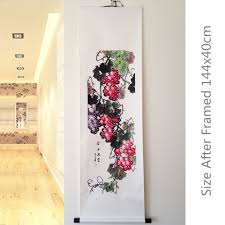 framed wall murals home decorating interior design bath framed wall murals part 30 rice paper hand painted grape chinese feng shui