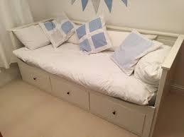 Ikea White Bed With Drawers White Ikea Hemnes Extendable Day Bed With 3 Drawers With 1 Double