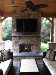 outdoor fireplace deck design amazing deck