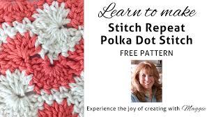stitch repeat polka dots u2013 free crochet pattern