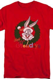 happy holidays bugs bunny shirt looney tunes mens shirt