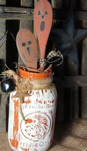 craft booth 555 halloween mason jars with wooden pumpkin spoons
