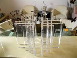 modern lucite coffee table base circa who