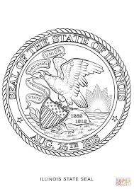 illinois state seal coloring page free printable coloring pages