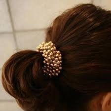 hair bands pearl elastic hair band sleekchic