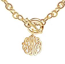 gold plated monogram necklace keti sorely designs 24k gold plated monogram necklace on toggle