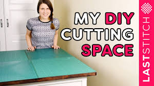 Ikehack My Ikea Hack Cutting Table And Sewing Storage Space Youtube