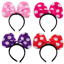 headband with bow minnie mickey mouse ears light up bow headbands led party