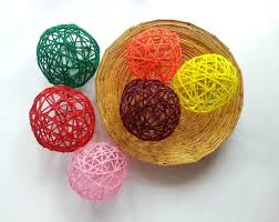 diy decorative yarn balls 4 steps with pictures