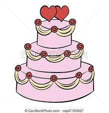 dessin mariage dessins de gâteau mariage dessin animé icône style isolé