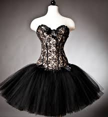 custom size black and gold lace burlesque corset prom dress