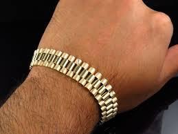 mens gold bracelet links images Mens 10k yellow gold solid link designer 8 inch bracelet 14 mm jpg