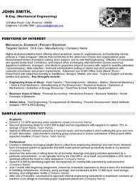 Resume Format For Mechanical 10 Best Best Mechanical Engineer Resume Templates U0026 Samples Images
