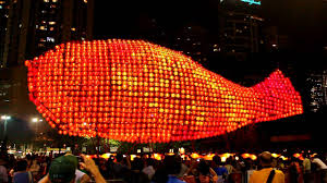 moon festival decorations world s largest lantern sculpture in hong kong mid autumn